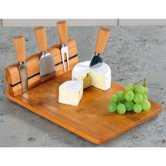 Deska do sera z listwą magetyczną + 4 sztućce