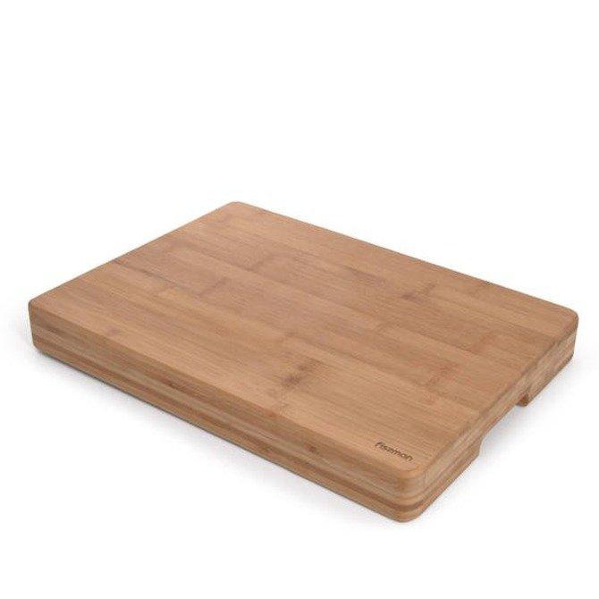 Deska kuchenna bambusowa profesjonalna gruba 42x30x5cm Fissman