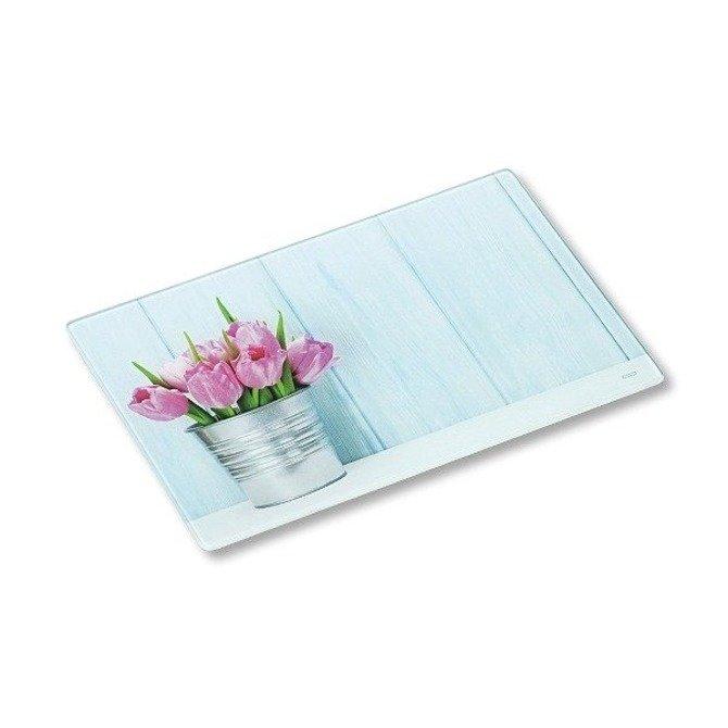 Deska szklana KESPER 30 x 20 - Tulipan