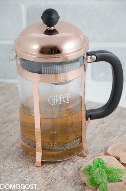 Gipfel zaparzacz 800 ml do kawy/herbaty miedziowy