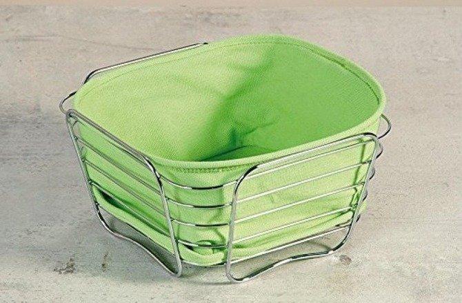 Koszyk na pieczywo zielony KESPER