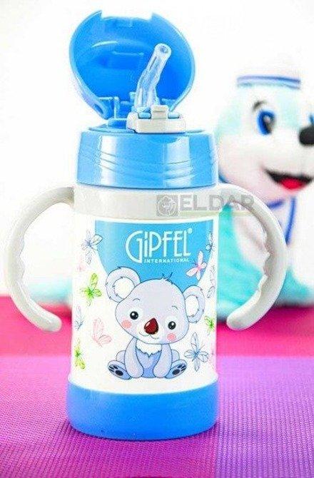Kubek termiczny dla dzieci GIPFEL 260ml Niebieski