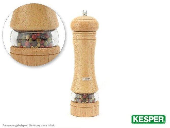 Młynek do pieprzu i soli kauczuk / akryl 22cm  Kesper
