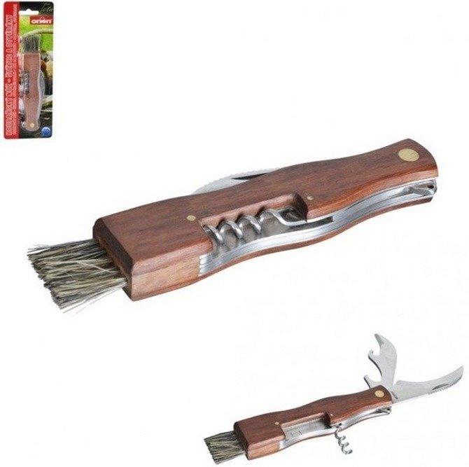 Nożyk do grzybów + pędzelek