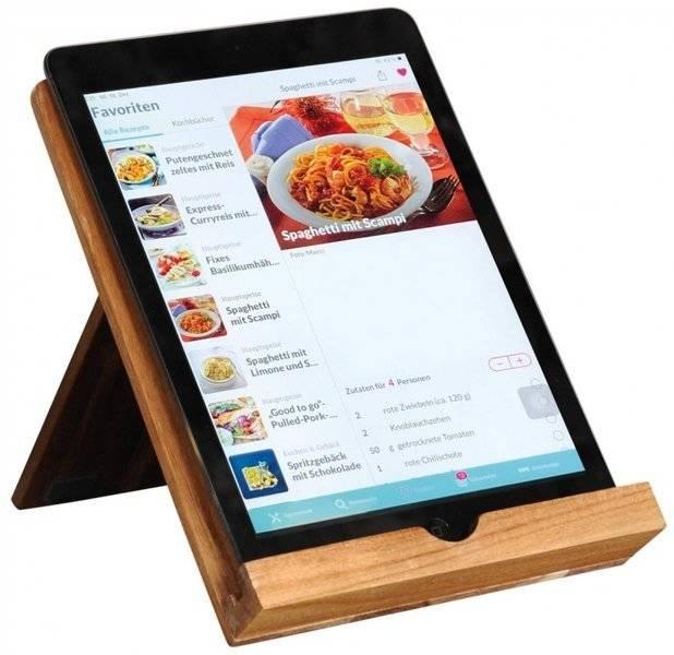 Podstawka pod książkę / tablet / kindle z drewna akacjowego 18x23x19,2cm