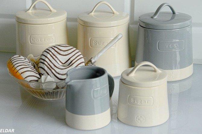 Pojemnik ceramiczny do cukru Artisan kremowy