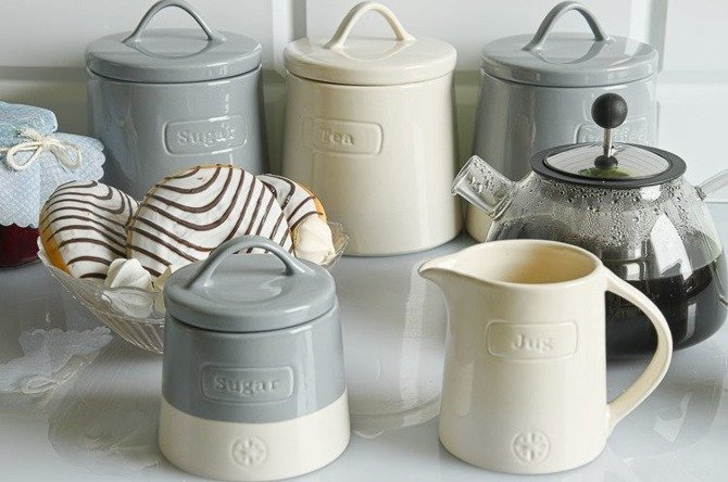 Pojemnik ceramiczny do kawy Artisan niebieski