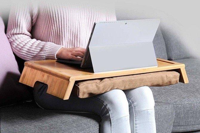 Stolik Kesper pod laptop z poduszką na kolana 55x34