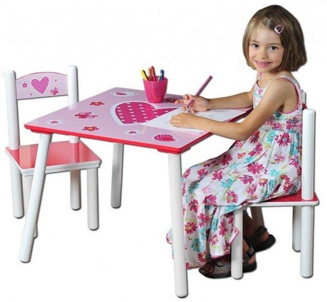 Stolik + dwa krzesełka KESPER Love