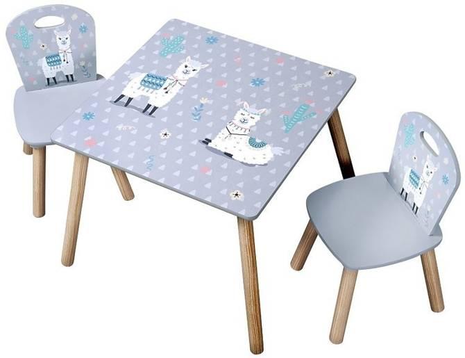 Stolik + dwa krzesełka dla dzieci KESPER Alpaka