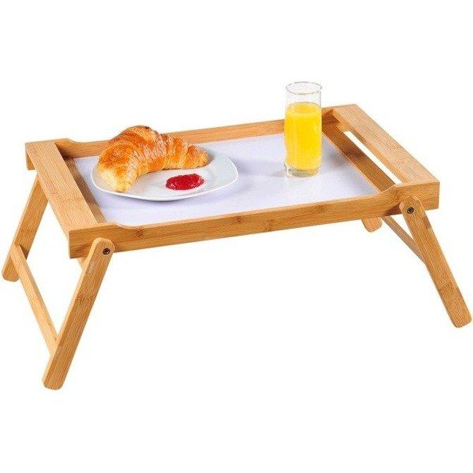 Stolik śniadaniowy bambusowy o 59 x 33cm składany Kesper