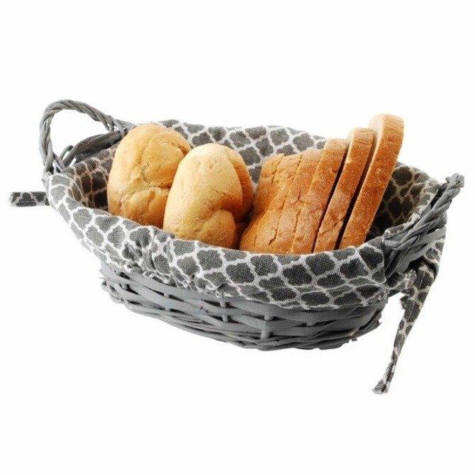 Wiklinowy koszyk na chleb Orion szary