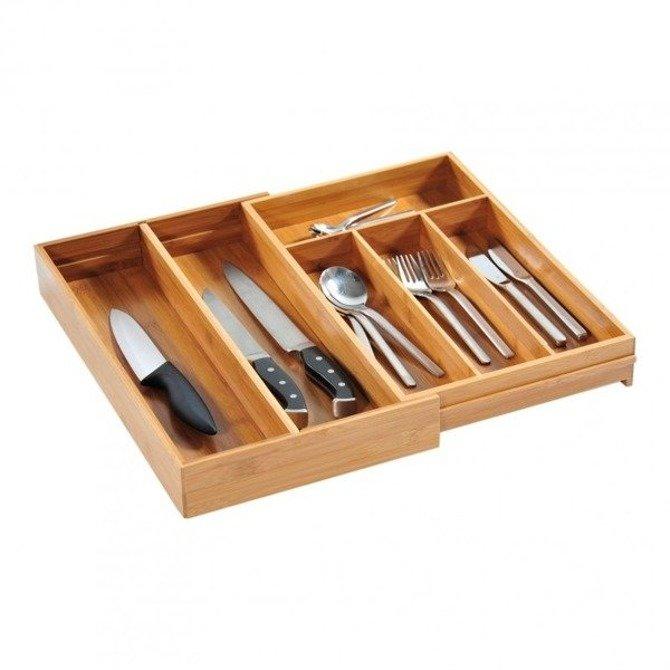 Wkład do szuflady na sztućce rozsuwany Kesper 26-49cm