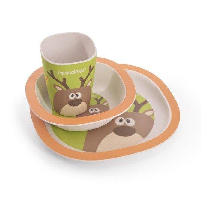 Zestaw naczyń dla dzieci Fissman 3cz komplet talerz, miseczka, kubek