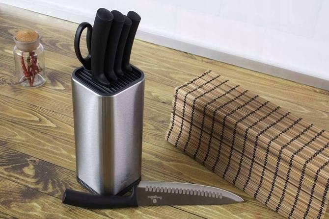 Zestaw noży Berlinger Haus w stojaku Carbon Metalic 7 części