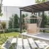 Hamak brazylijski podwieszany fotel huśtawka beżowy
